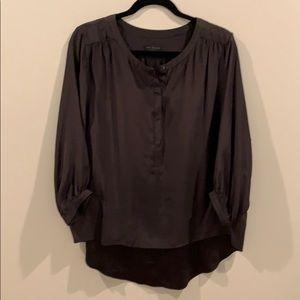 Rag & Bone flowy black silk blouse
